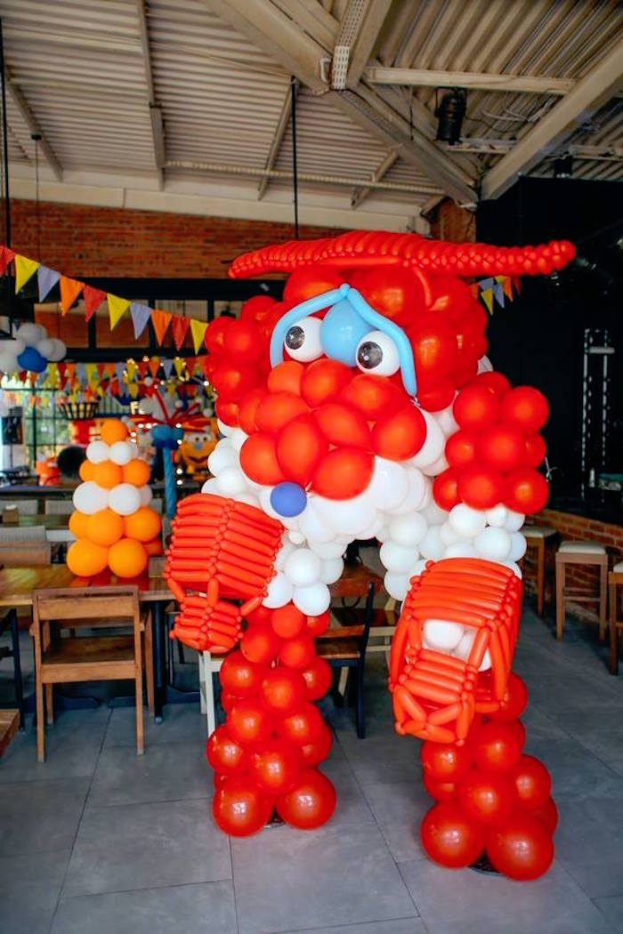 Balloon airplane from an Airplane Themed Birthday Party via Kara's Party Ideas   KarasPartyIdeas.com (18)