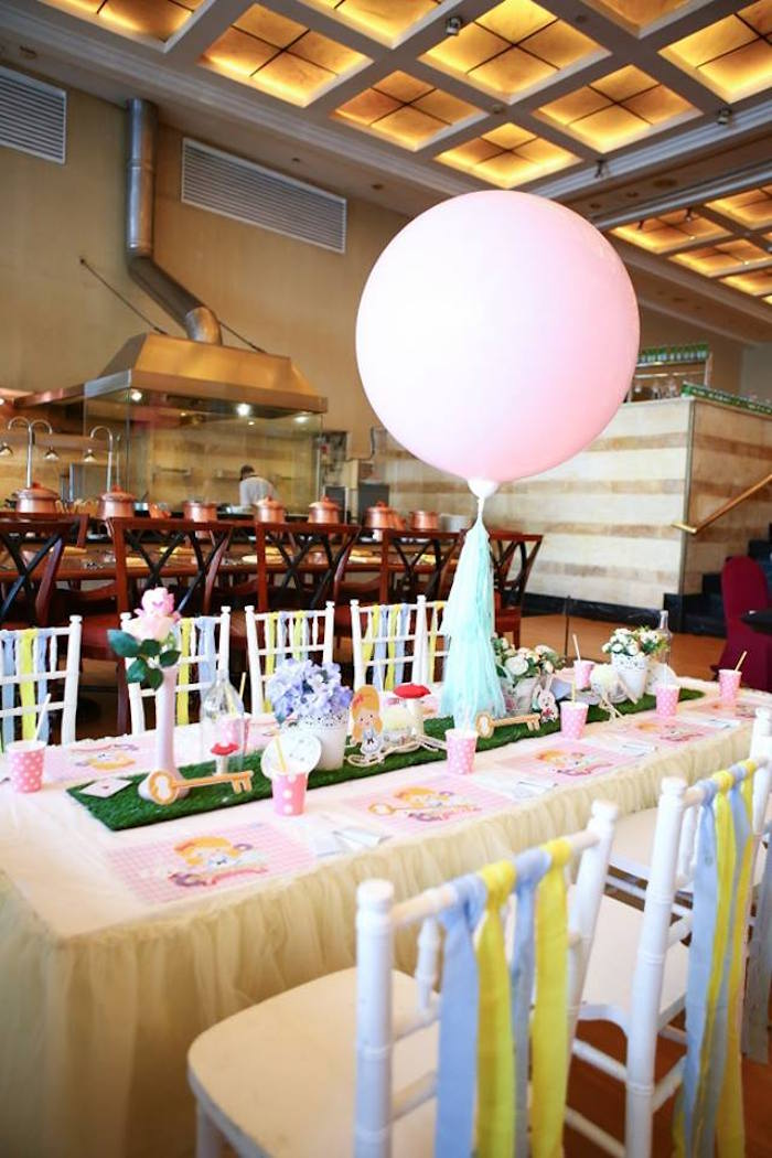 Alice in Wonderland Dining Table from an Alice in Wonderland Birthday Tea Party via Kara's Party Ideas | KarasPartyIdeas.com (14)