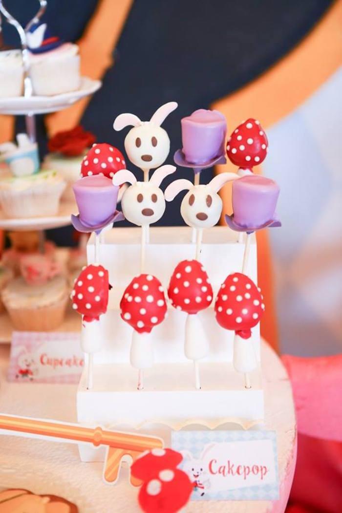 Cake pops from an Alice in Wonderland Birthday Tea Party via Kara's Party Ideas | KarasPartyIdeas.com (8)