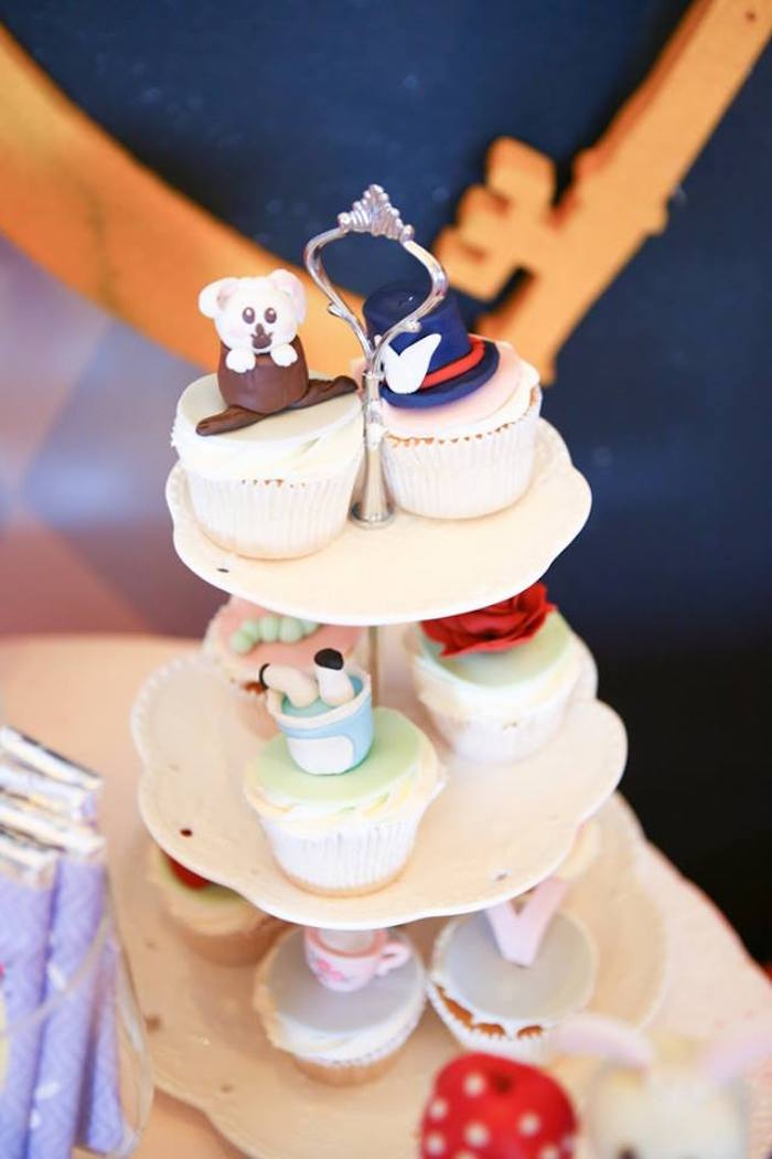 Cupcakes from an Alice in Wonderland Birthday Tea Party via Kara's Party Ideas | KarasPartyIdeas.com (3)