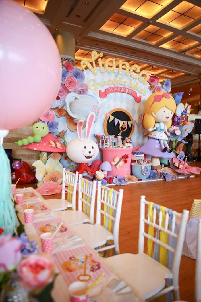 Alice in Wonderland Birthday Tea Party via Kara's Party Ideas | KarasPartyIdeas.com (23)