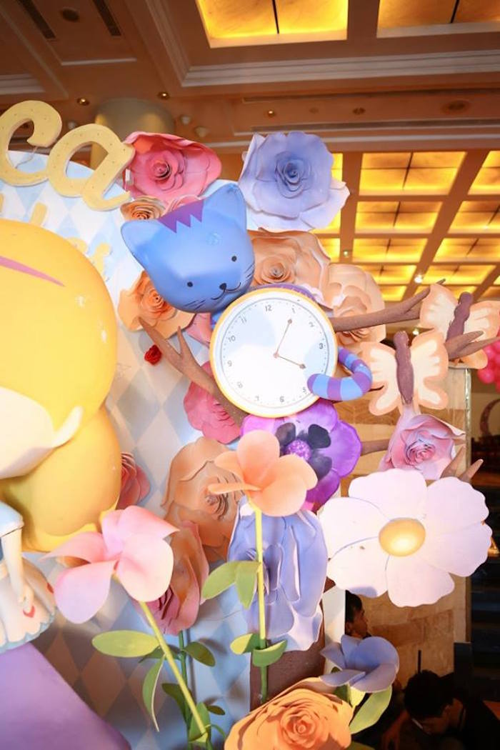 Backdrop from an Alice in Wonderland Birthday Tea Party via Kara's Party Ideas | KarasPartyIdeas.com (22)