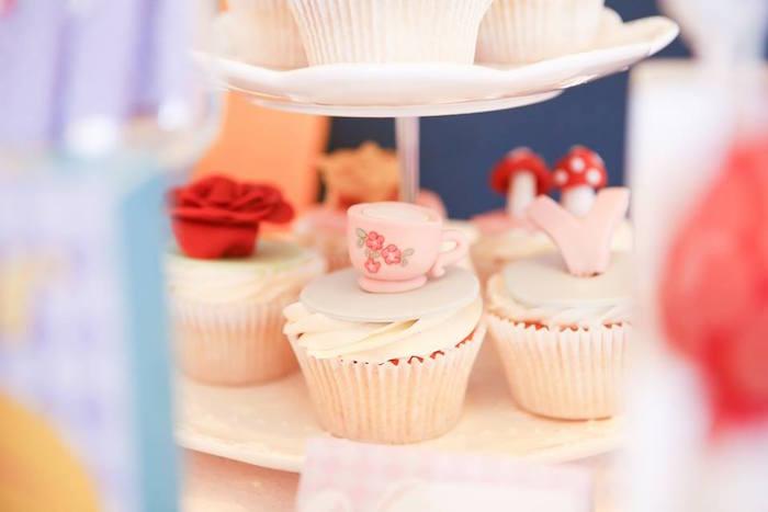 Cupcakes from an Alice in Wonderland Birthday Tea Party via Kara's Party Ideas | KarasPartyIdeas.com (19)