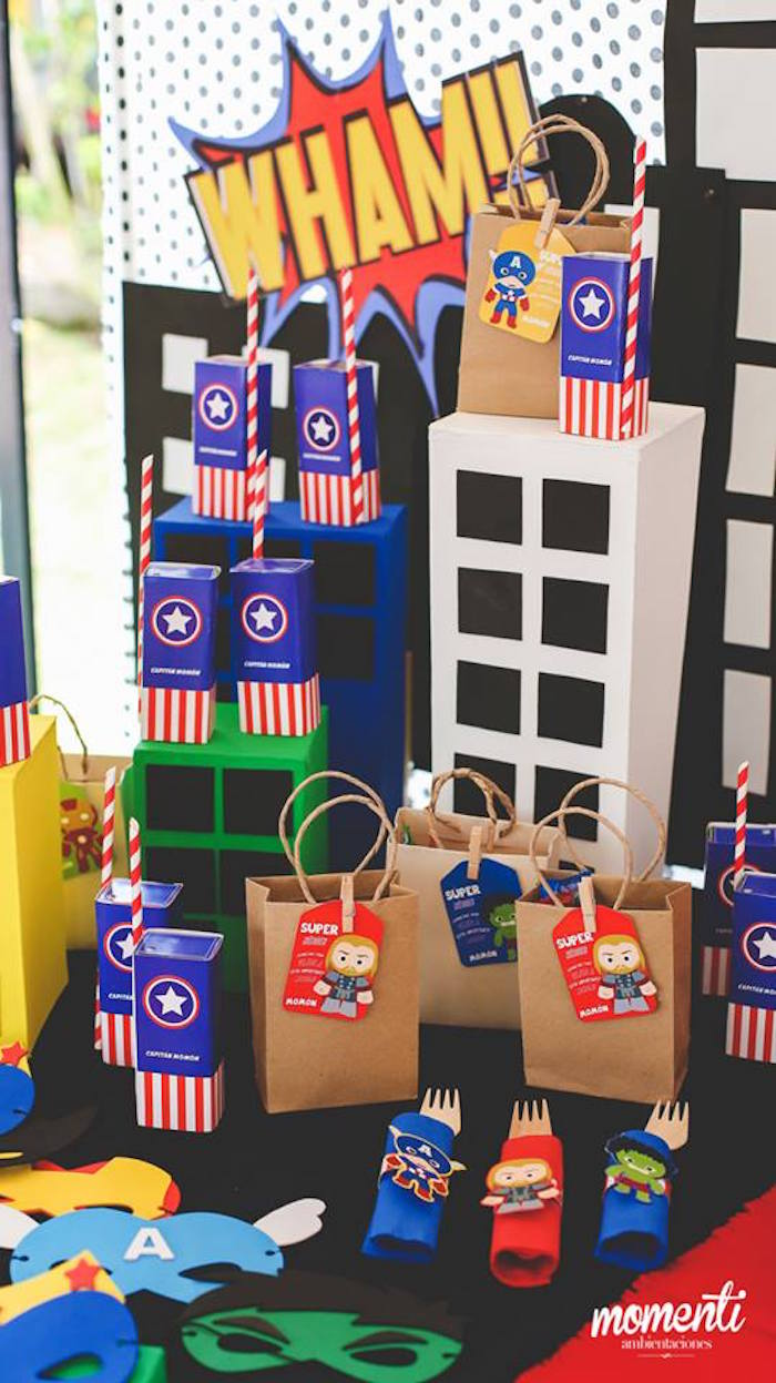 Party detail from an Avengers Birthday Party via Kara's Party Ideas KarasPartyIdeas.com (21)