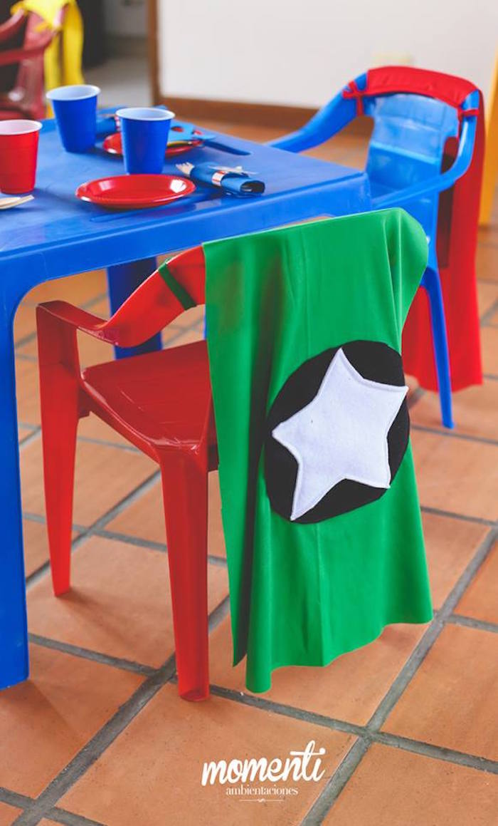 Kid Table From An Avengers Birthday Party Via Kara S Ideas Karaspartyideas Com 20