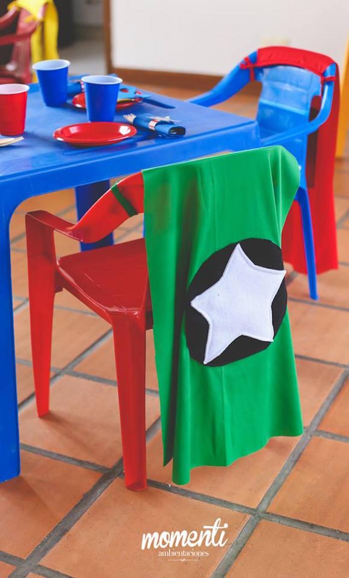 Kid table from an Avengers Birthday Party via Kara's Party Ideas KarasPartyIdeas.com (20)