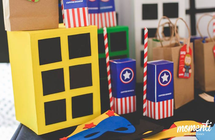 Captain America juice boxes from an Avengers Birthday Party via Kara's Party Ideas KarasPartyIdeas.com (12)