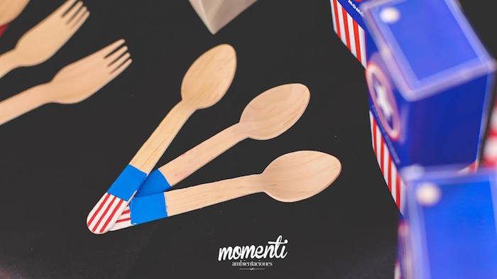 Wooden spoons from an Avengers Birthday Party via Kara's Party Ideas KarasPartyIdeas.com (30)
