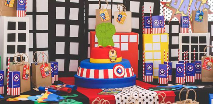 Kara\u0027s Party Ideas Modern Avengers Birthday Party