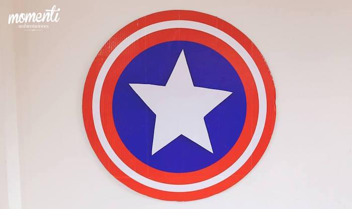 Captain America signage from an Avengers Birthday Party via Kara's Party Ideas KarasPartyIdeas.com (28)
