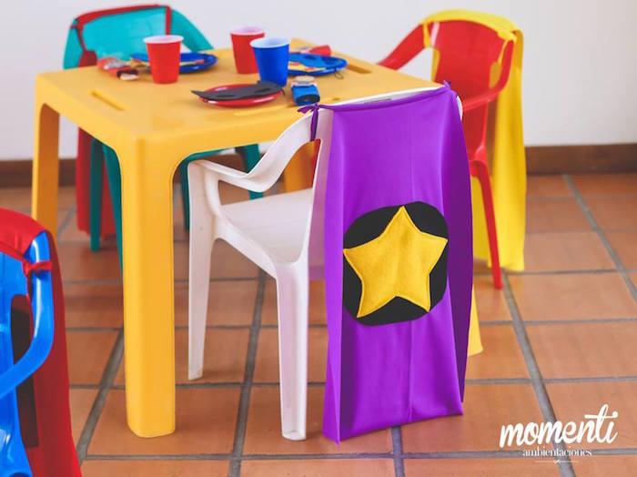 Kid table from an Avengers Birthday Party via Kara's Party Ideas KarasPartyIdeas.com (25)
