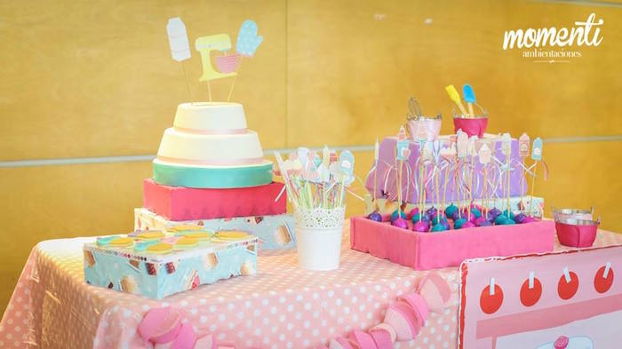 Sweet table from a Bakery + Cooking Themed Birthday Party via Kara's Party Ideas KarasPartyIdeas.com (6)