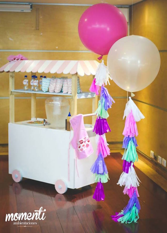 Beverage stand from a Bakery + Cooking Themed Birthday Party via Kara's Party Ideas KarasPartyIdeas.com (3)