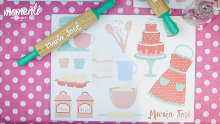 Placemat from a Bakery + Cooking Themed Birthday Party via Kara's Party Ideas KarasPartyIdeas.com (16)