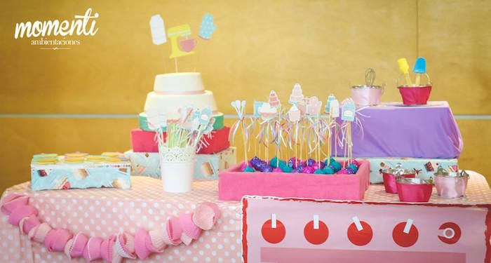 Sweet table from a Bakery + Cooking Themed Birthday Party via Kara's Party Ideas KarasPartyIdeas.com (15)