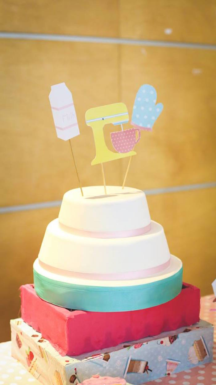 Cake from a Bakery + Cooking Themed Birthday Party via Kara's Party Ideas KarasPartyIdeas.com (14)