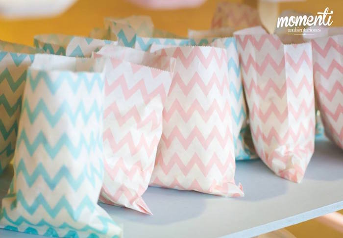 Chevron snack sacks from a Bakery + Cooking Themed Birthday Party via Kara's Party Ideas KarasPartyIdeas.com (12)