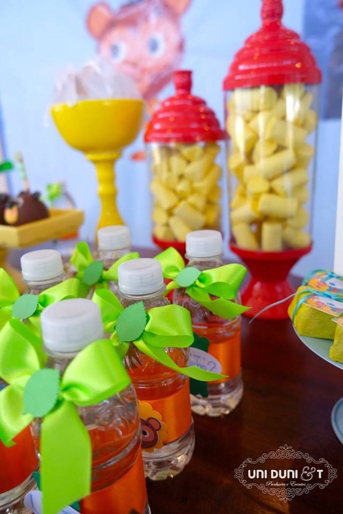 Party details from a Bigo The Bear Themed Birthday Party via Kara's Party Ideas KarasPartyIdeas.com (5)