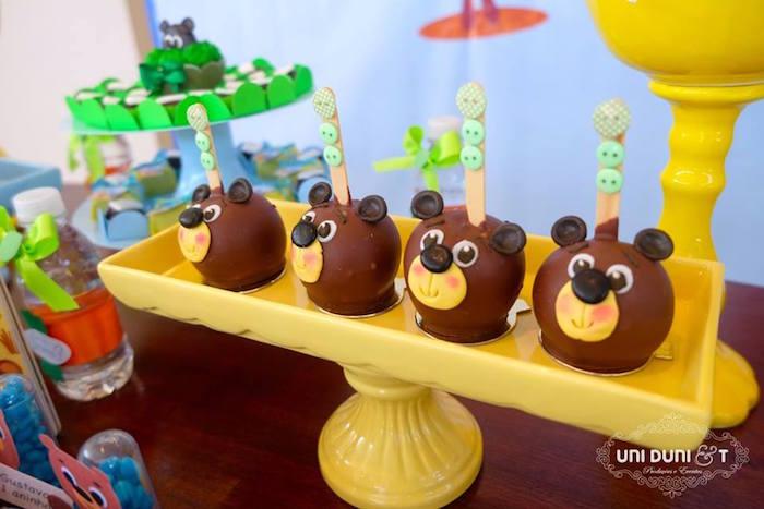Bear cake balls from a Bigo The Bear Themed Birthday Party via Kara's Party Ideas KarasPartyIdeas.com (19)