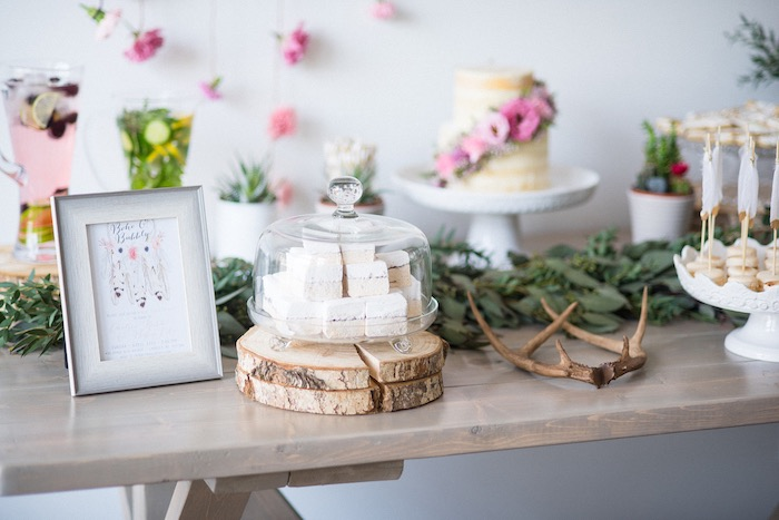 Decor + sweets from a Boho & Bubbly Baby Shower via KARA'S PARTY IDEAS | KarasPartyIdeas.com (41)