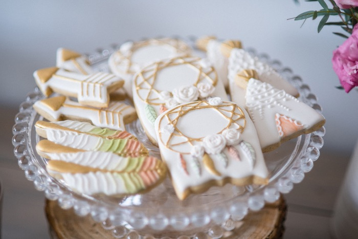 Cookies from a Boho & Bubbly Baby Shower via KARA'S PARTY IDEAS | KarasPartyIdeas.com (51)