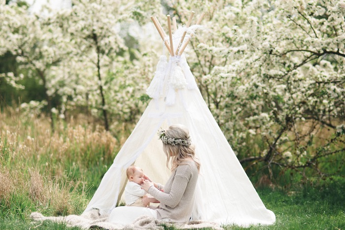 Boho Photo Shoot from a Boho & Bubbly Baby Shower via KARA'S PARTY IDEAS | KarasPartyIdeas.com (11)