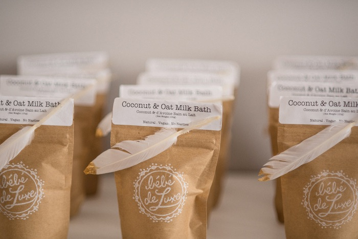 Coconut & Oat Milk Bath Favors from a Boho & Bubbly Baby Shower via KARA'S PARTY IDEAS | KarasPartyIdeas.com (4)