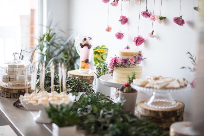Boho & Bubbly Baby Shower via KARA'S PARTY IDEAS | KarasPartyIdeas.com (45)