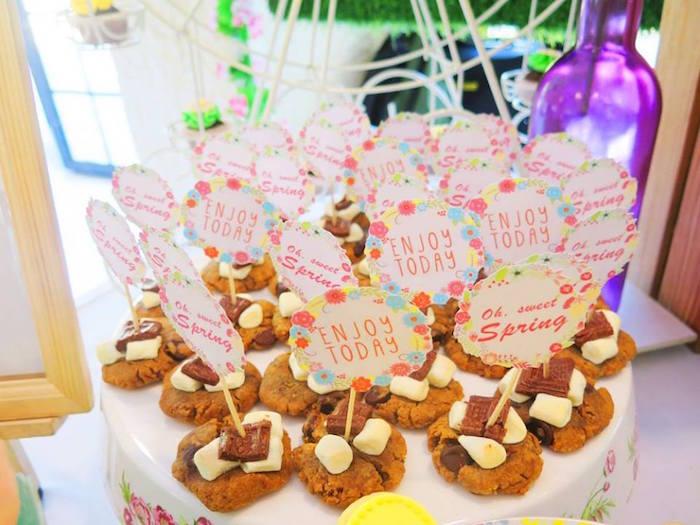 S'more cookies from a Boho Floral Birthday Party via Kara's Party Ideas KarasPartyIdeas.com (16)