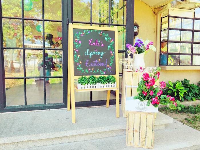 Entrance decor from a Boho Floral Birthday Party via Kara's Party Ideas KarasPartyIdeas.com (32)