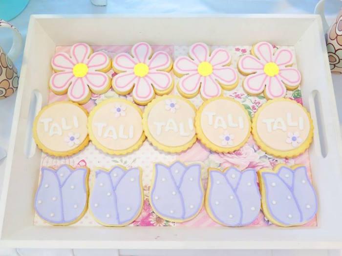Cookies from a Boho Floral Birthday Party via Kara's Party Ideas KarasPartyIdeas.com (13)