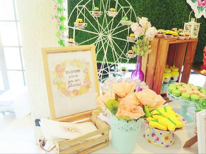 Boho Floral Birthday Party via Kara's Party Ideas KarasPartyIdeas.com (10)