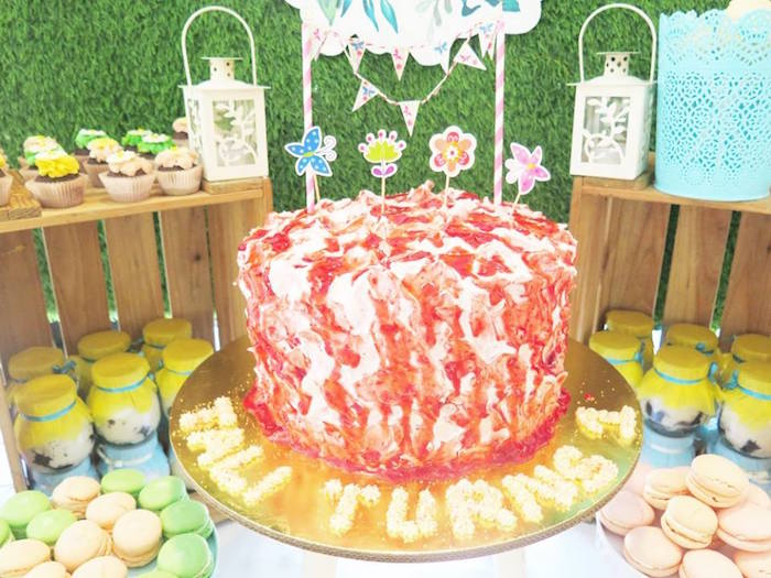 Cake from a Boho Floral Birthday Party via Kara's Party Ideas KarasPartyIdeas.com (24)