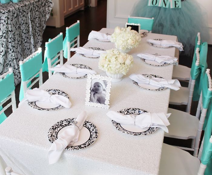 Children's table from a Breakfast at Tiffany's Birthday Party via Kara's Party Ideas KarasPartyIdeas.com (17)
