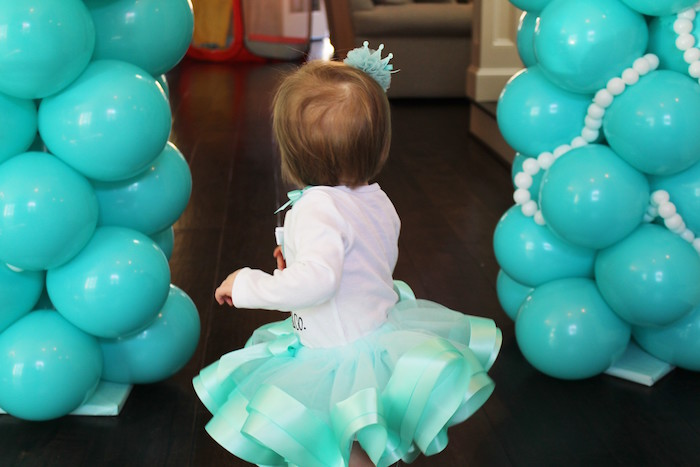 Birthday girl from a Breakfast at Tiffany's Birthday Party via Kara's Party Ideas KarasPartyIdeas.com (13)