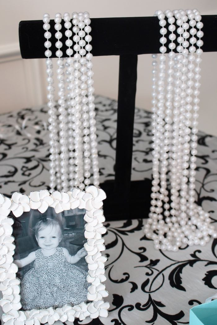 Strands of pearls from a Breakfast at Tiffany's Birthday Party via Kara's Party Ideas KarasPartyIdeas.com (10)
