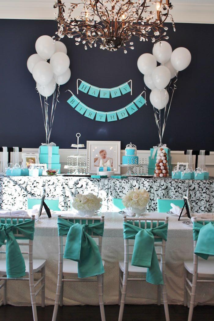 Partyscape from a Breakfast at Tiffany's Birthday Party via Kara's Party Ideas KarasPartyIdeas.com (6)