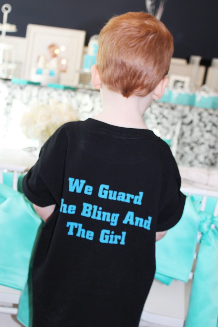 Custom Security Guard shirt from a Breakfast at Tiffany's Birthday Party via Kara's Party Ideas KarasPartyIdeas.com (5)