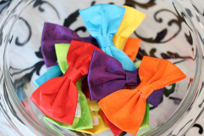 Bow ties from a Breakfast at Tiffany's Birthday Party via Kara's Party Ideas KarasPartyIdeas.com (23)