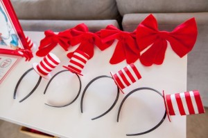Cat in the Hat hats + bows from a Hats + Bows from a Cat in the Hat themed Birthday Party via Kara's Party Ideas | KarasPartyIdeas.com - The Place for All Things Party! (63)
