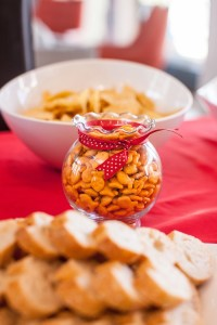Gold fish snacks from a Cat in the Hat themed Birthday Party via Kara's Party Ideas | KarasPartyIdeas.com - The Place for All Things Party! (56)