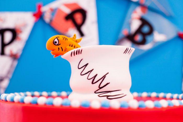 Awe Inspiring Karas Party Ideas Cat In The Hat Themed Birthday Party Karas Funny Birthday Cards Online Elaedamsfinfo