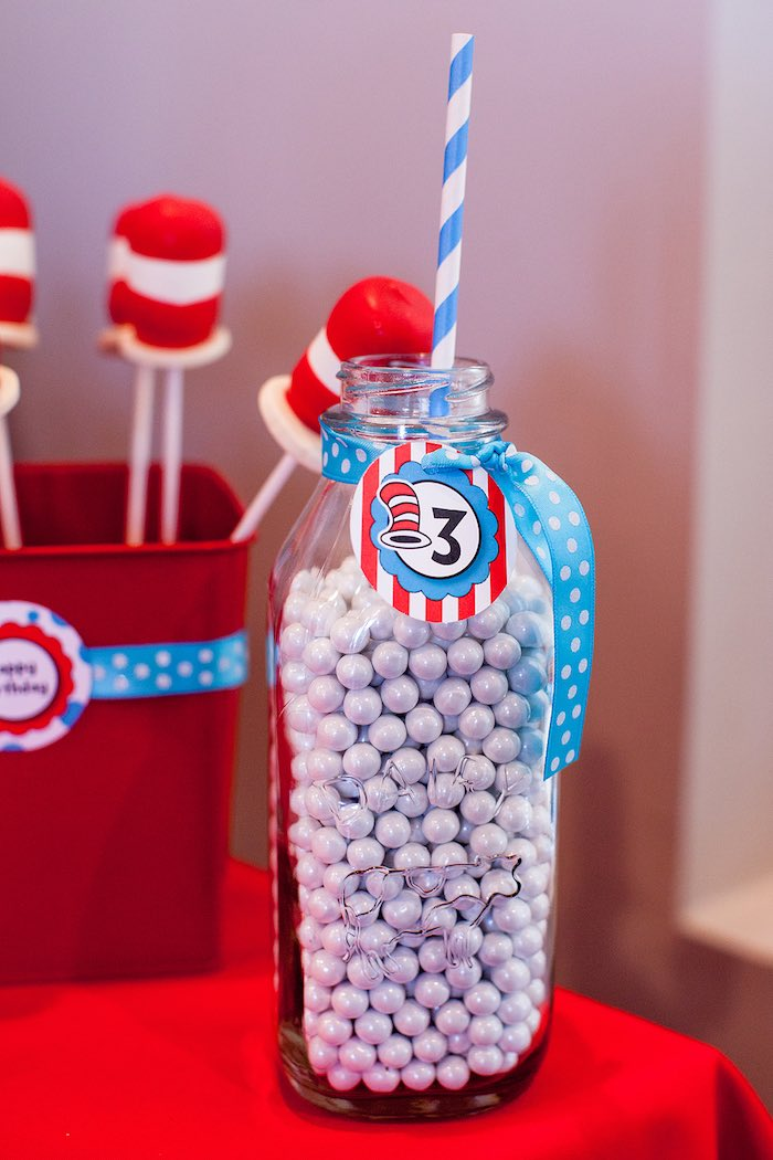 Kara S Party Ideas Cat In The Hat Themed Birthday Party