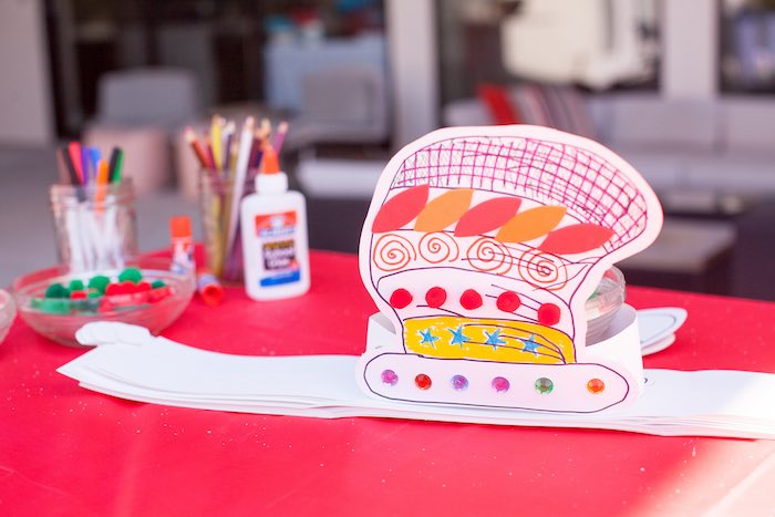 Cat Hat Makeover Activity from a Cat in the Hat themed Birthday Party via Kara's Party Ideas | KarasPartyIdeas.com - The Place for All Things Party! (31)