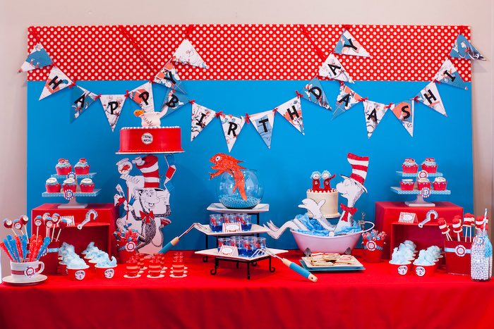 Cat in the Hat themed Birthday Party via Kara's Party Ideas | KarasPartyIdeas.com - The Place for All Things Party! (76)