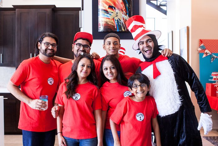 Photo op from a Cat in the Hat themed Birthday Party via Kara's Party Ideas   KarasPartyIdeas.com - The Place for All Things Party! (23)