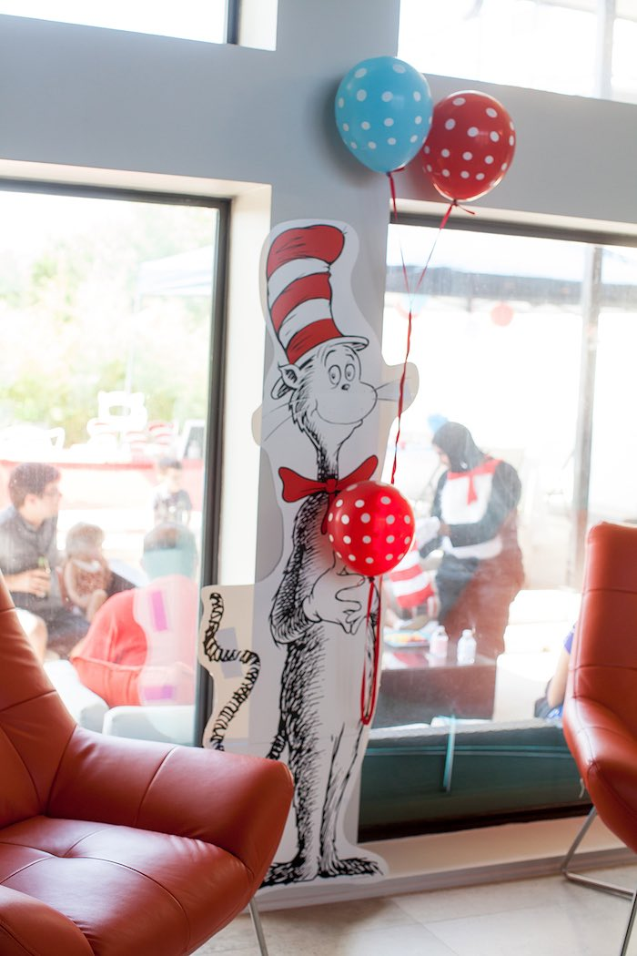 Cat in the Hat decor from a Cat in the Hat themed Birthday Party via Kara's Party Ideas | KarasPartyIdeas.com - The Place for All Things Party! (11)
