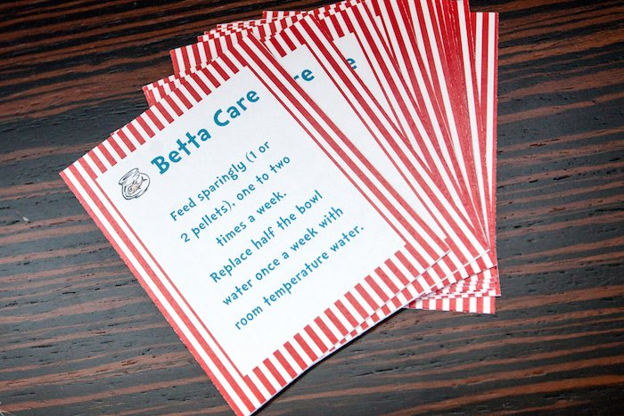 Betta care sheet + party signage from a Cat in the Hat themed Birthday Party via Kara's Party Ideas | KarasPartyIdeas.com - The Place for All Things Party! (72)