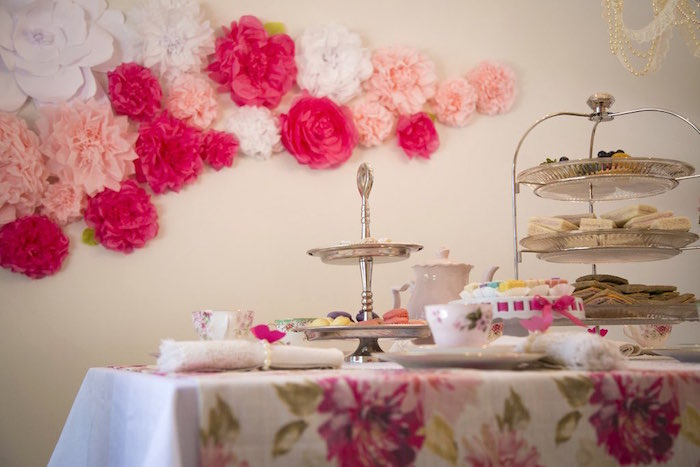 Tea table from a Colorful Tea Party via Kara's Party Ideas | KarasPartyIdeas.com (32)
