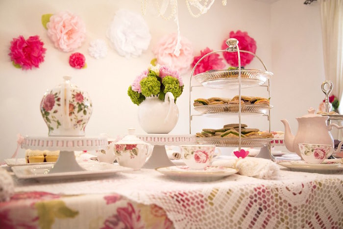Tea tablescape from a Colorful Tea Party via Kara's Party Ideas | KarasPartyIdeas.com (28)